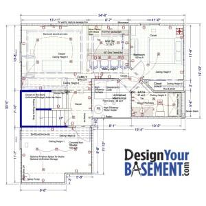 Basement design by DesignYourBasement.com